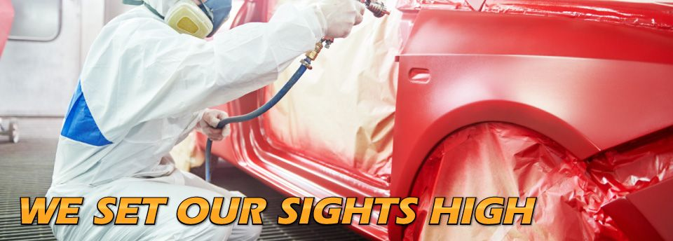 High Caliber Auto Collision & Repair - We Set Our Sights High - painting